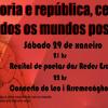 Acto político e cultural en Redondela