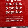 Adiante convoca manifestación o sábado 15, ás 19 horas, desde a Praza Roxa de Compostela